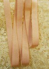 "MOKUBA 1/2"" GOLD METALLIC PICOT EDGE RIBBON -PEACH"