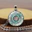 Femmes-Hommes-Cabochon-Verre-Pendentif-Argent-Bronze-Chaine-Lucky-Collier-Bijoux miniature 3