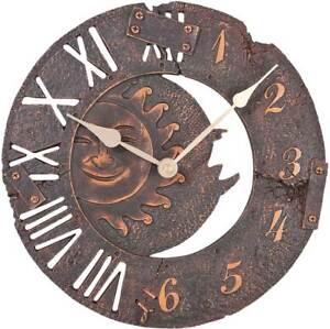 Atlanta-4475-Wanduhr-Gartenuhr-Aussenuhr-Antik-Optik-Uhren-Neu