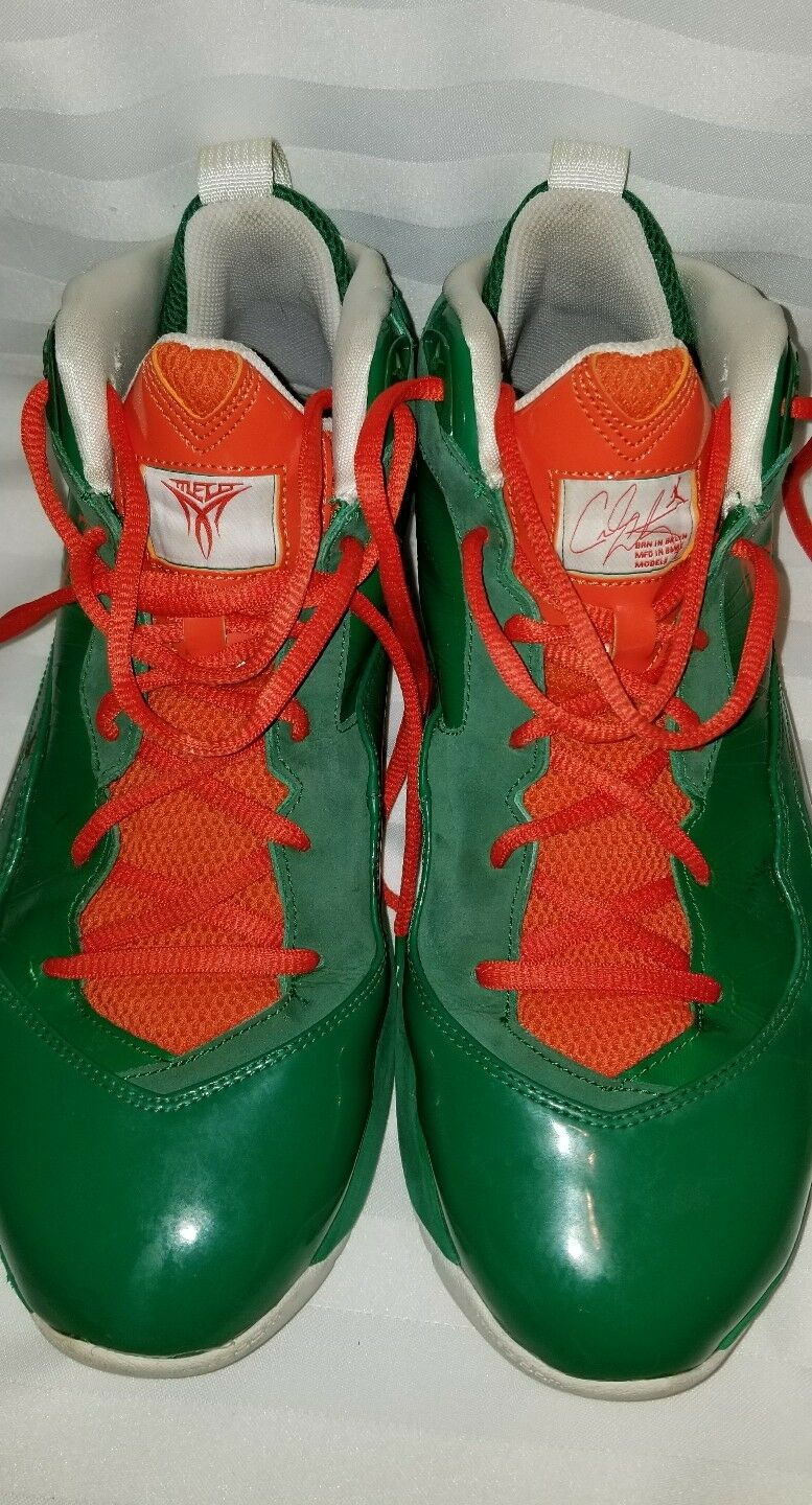 Nike Air Jordan Melo Flywire Carmelo Anthony Green/Orange Shoes Price reduction Wild casual shoes