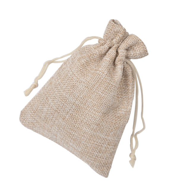 100Pcs 10*15cm Burlap Hessian Mini Bags Drawstring Rustic Wedding Favor Gift