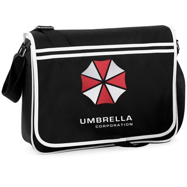 Resident Evil Umbrella Corporation College Messenger Shoulder Bag Geeky Retro