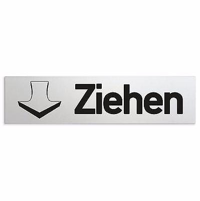 T/ürschild oberfl/ächenveredeltes Aluminium 160x40 mm Nr.28008-E Ziehen eloxiert Dr/ücken 2er-Set | matt-Silber