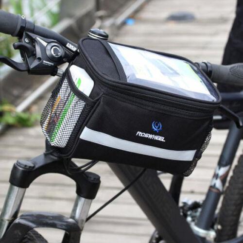 Bicycle Handlebar Bag Cycling Bike Front Tube Pannier Basket Storage Outdoor