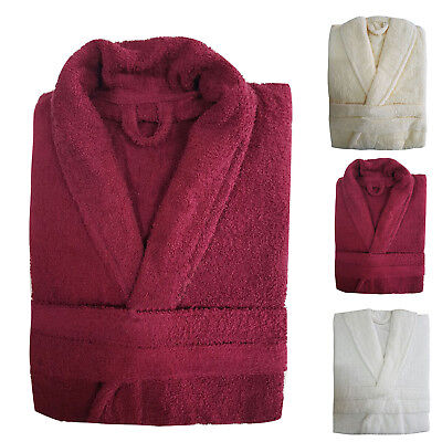 100% Cotton Ladies Bathrobe Mens Bath Robe Women Terry Towelling Dressing Gown