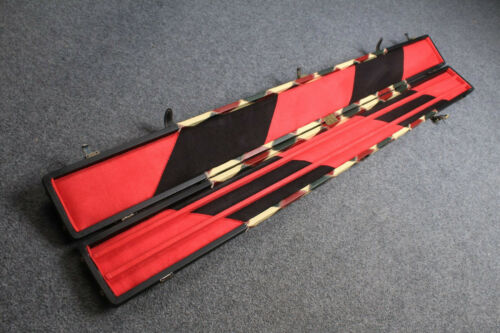 HANDMADE 3 COMPARTMENTS QUALITY WIDE 3//4 CUE CASE
