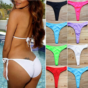 bf4ddc784b Image is loading V-Cheeky-Brazilian-Thong-Bikini-Bottoms-Women-String-