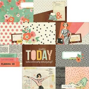 Simple Stories The Reset Girl Foiled Double-Sided Elements Cardstock - 438332