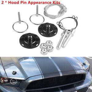 Fashion Hood Pin Appearance Kit Machine Cover Lock for Racing Car Aluminum
