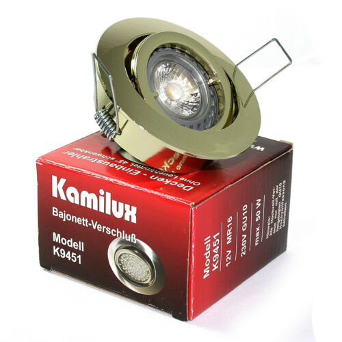 Halogen rostfrei ohne Leuchtmittel 230V Bajo Einbaustrahler /& GU10 Fassung LED