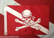 "Diver Down pirate flag scuba dive equip novelty boat atv spearfish #520  12x18"""
