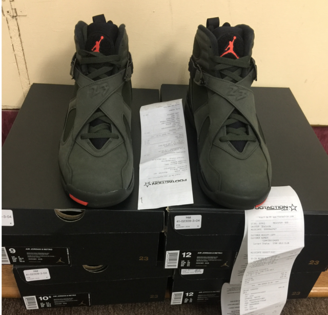 a20fca9f43c8f7 Nike Air Jordan 8 VIII Retro Take Flight Sequoia Black Undefeated 305381 305