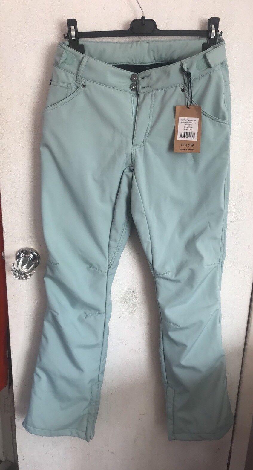 Planks Damenschuhe Ski Pants - Reunion Soft Shell - Glacier Blau MEDIUM BEST PRICE