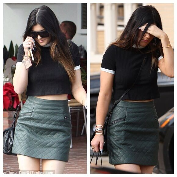 Topshop Quilted Faux Leather Skirt (As Seen on Kylie Jenner)