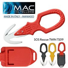 knife SOS Coltello MAC Coltellerie MADE IN ITALY Maniago TWIN RESCUE TS09 INOX