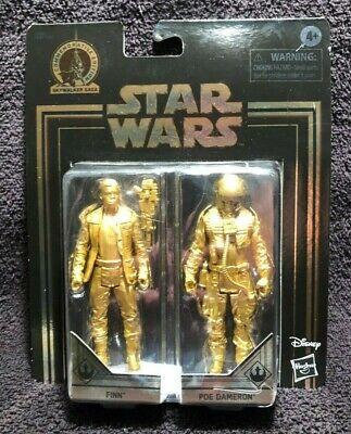 Star Wars Commemorative Edition Skywalker Saga Finn /& Poe Dameron gold