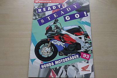 Modellprogramm Prospekt 1993 Hohe QualitäT Und Geringer Aufwand Honda Motorrad 171033