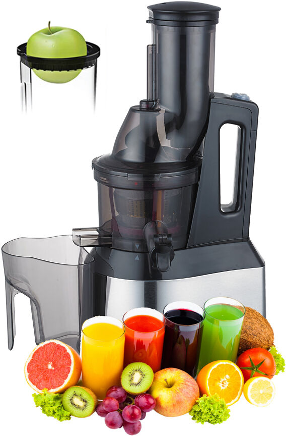 Whole Slow Juicer-Extra Large goulotte d'alimentation occlusale jus extracteur-Heavy Duty