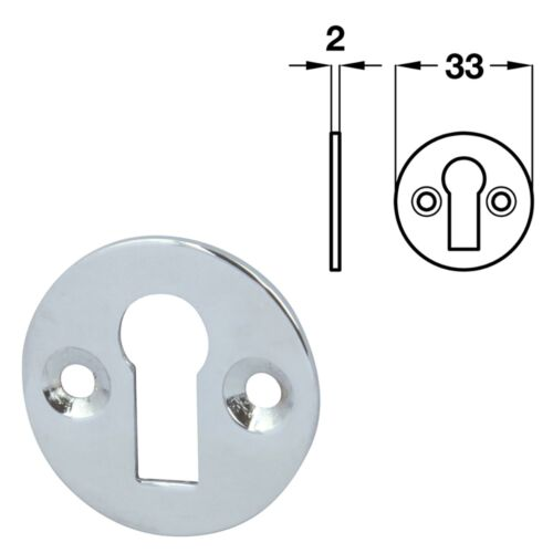 brass//polished chrome//satin nickel HAFELE Plain escutcheon standard keyway