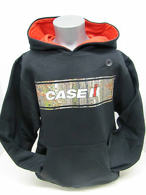 L or XL S Case IH Genuine IH Youth Charcoal Gray Performance Hoodie Sizes M
