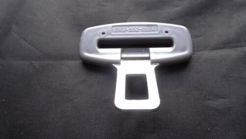 MINI COOPER GREY SEAT BELT ALARM BUCKLE KEY INSERT PLUG CLIP SAFETY CLASP STOPPE