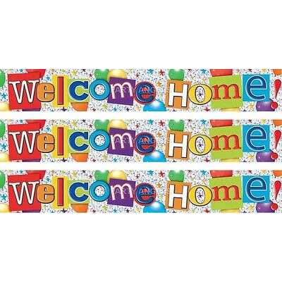 WELCOME HOME MULTI COLOUR FOIL BANNERS (SE)