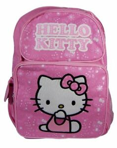 New Sanrio HELLO KITTY Pink Bag School Work Book Large Backpack cute ... 24d820949fe9f
