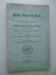 Prinz-Friedrich-Karl-Entwickelung-Ausbildung-Erziehung-Truppe-bis-1860-Militaer