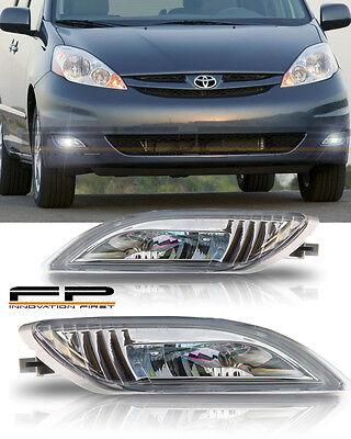 2006-2010 Toyota Sienna Clear VIP Cree SMD LED Bumper Driving Fog Light Full Kit