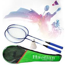 New Pro. 1 Pair High-Strength Aluminium Badminton Racket + Badminton&Racquet Bag