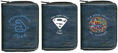 Luminosa Porte Monnaie Porte Carte Homme Fetes Des Peres Super Papa