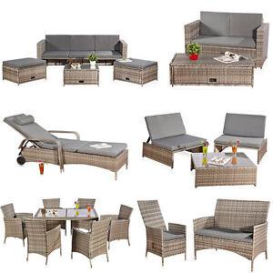 Rattan lounge grau  Rattanlounge Grau Relaxsessel Sitzgruppe Lounge Sofa Liege ...