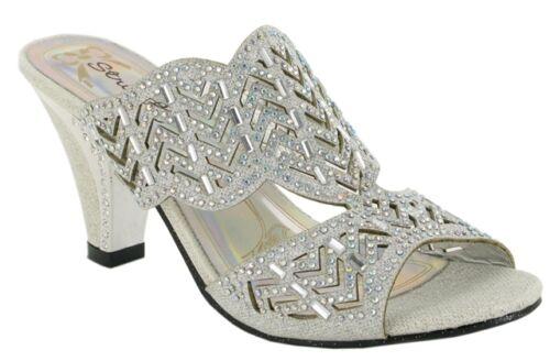 Femmes//Femmes Talon Haut Bloc Mariage Décontracté Smart À Enfiler Fête Chaussures UK