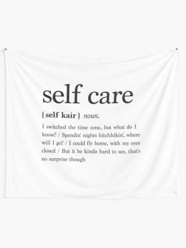 Self Care Wall Tapestries Self Care Wall Tapestry