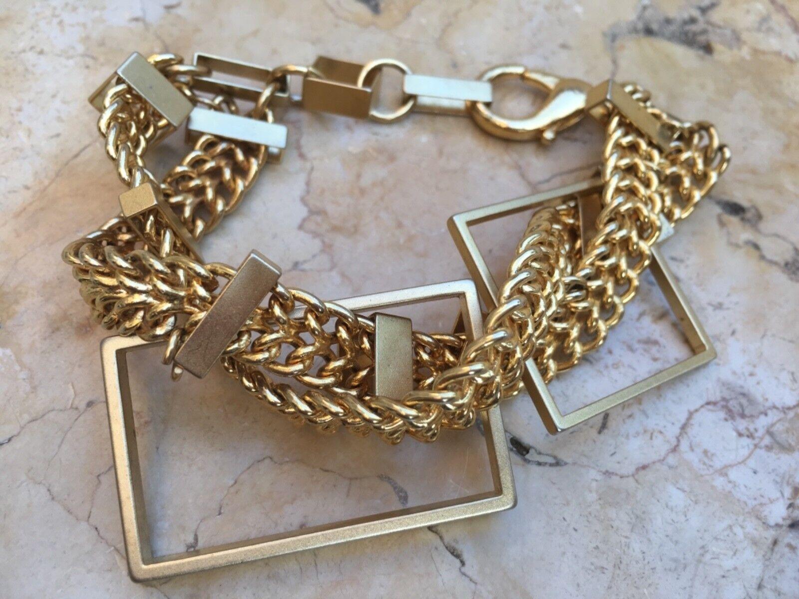 Vintage Rare Bracelet Twist Chain Women's Fashion Jewelry 58 grams