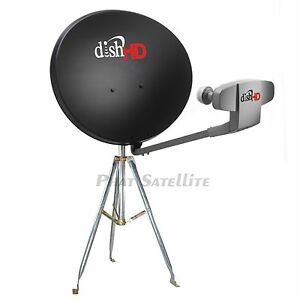 Details about DISH Network 1000 2 HD Satellite DISH Antenna CAMPING  COMPLETE MOBILE TRIPOD SET