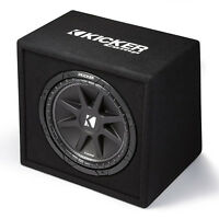 Kicker Comp 12 300w 4 Ohm Carpeted Vented Loaded Subwoofer Enclosure | 43vc124