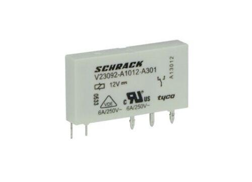 Relè relay slim 12V 12Vcc 6A a 1 contatto c//o in scambio 12Vdc V23092-A1012-A301