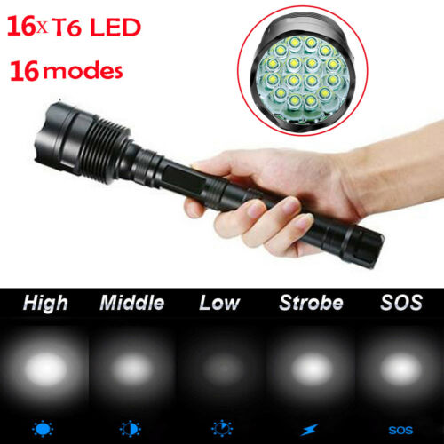 Ultrafire Zoom Focus Tactical T6 LED Flashlight Lamp Torch 18650 Battery Case ∆
