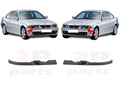FOR BMW 3 E46 COUPE 03-06 FRONT HEADLIGHT MOLDING TRIM WITH WASHER HOLE PAIR SET