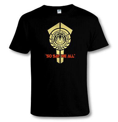 Battlestar Galactica New Series COLONIES Adult Heather T-Shirt All Sizes