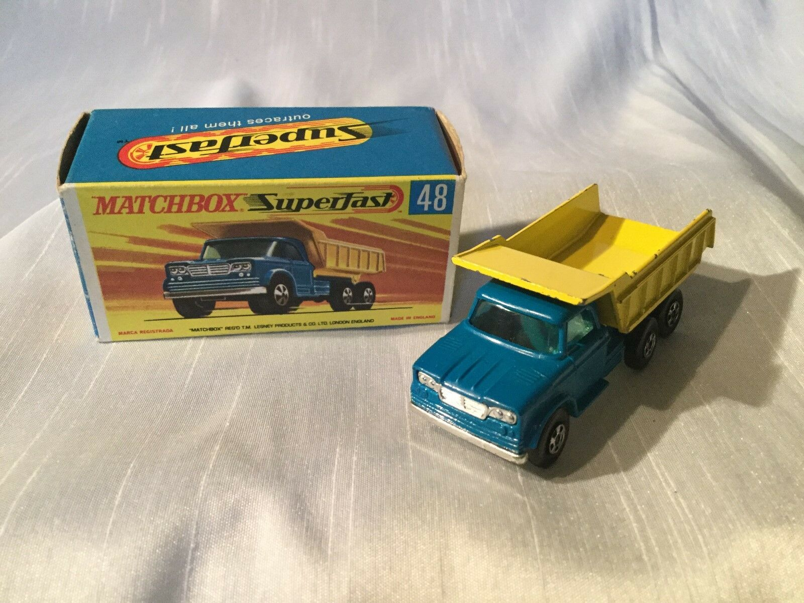 venta Matchbox Matchbox Matchbox Lesney súperfast Nº 48 Dodge Volquete Camión En Caja  tienda en linea