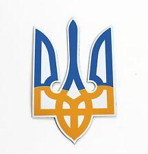 """Ukraine Bumper Car Magnet Sticker Trident Tryzub Ukrainian Flag Color 4'' x 2.5"""""""