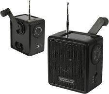 Solar Powered Wind Up Radio
