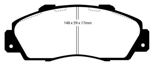 EBC Blackstuff Bremsbeläge Vorderachse DP872 für Honda Prelude 4