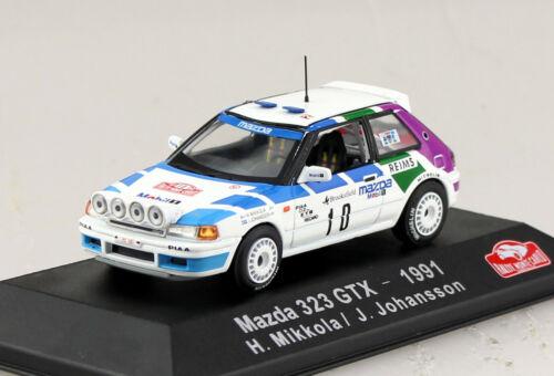 Mazda 323 GTX rally monte carlo 1991 #10 1:43 atlas maqueta de coche 28