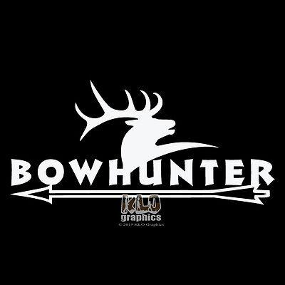 Bow Hunter Hunting Deer Whitetail Buck Car Truck Window Vinyl Decal Sticker