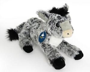 Stofftier-flauschiger-Esel-Plueschtier-Kuscheltier-Pluesch-Laenge-ca-25cm