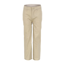 50482 Classroom Uniforms Boys New Adjustable Waist Narrow Leg Falt Front Pant
