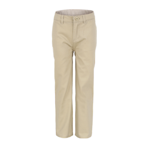 Bienzoe Boys School Uniforms Polyester Adjust Waist Flat Front Pants